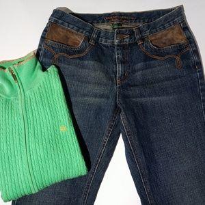Women's Size 4 RALPH LAUREN + Zippered SWEATER